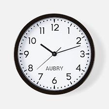Aubry Newsroom Wall Clock