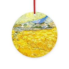 van gogh wheat Ornament (Round)