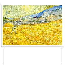 van gogh wheat Yard Sign