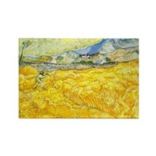 van gogh wheat Magnets
