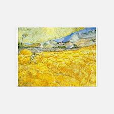 van gogh wheat 5'x7'Area Rug