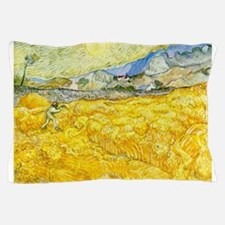 van gogh wheat Pillow Case