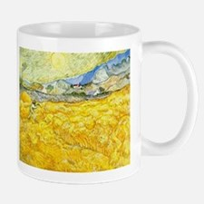 van gogh wheat Mugs