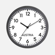 Austria Newsroom Wall Clock