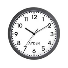 Ayden Newsroom Wall Clock