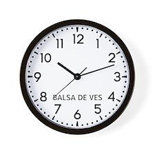 Balsa De Ves Newsroom Wall Clock