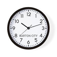 Barton City Newsroom Wall Clock