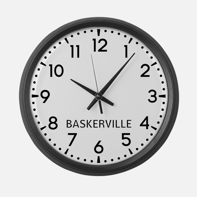 Baskerville Newsroom Large Wall Clock