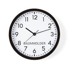 Baumholder Newsroom Wall Clock