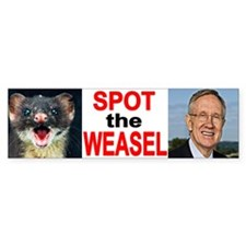 Dirty Harry Reid The Weasel Bumper Bumper Sticker