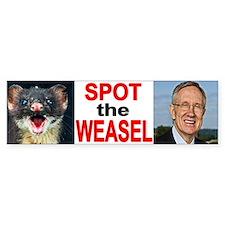 Dirty Harry Reid The Weasel Bumper Bumper Sticker