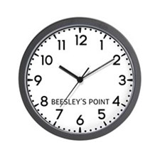 BeesleyS Point Newsroom Wall Clock