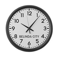 Belinda City Newsroom Large Wall Clock