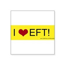 "Cute Eft tapping technique Square Sticker 3"" x 3"""