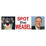 Dirty Harry Reid The Weasel Bumper Sticker