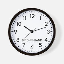 Bird-In-Hand Newsroom Wall Clock
