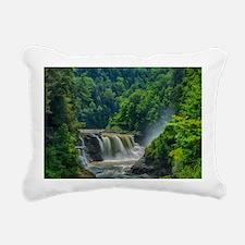 Lower Falls Letchworth Rectangular Canvas Pillow