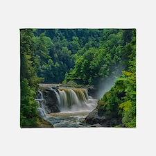 Lower Falls Letchworth Throw Blanket