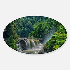 Lower Falls Letchworth Sticker (Oval)