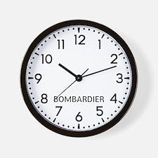 Bombardier Newsroom Wall Clock