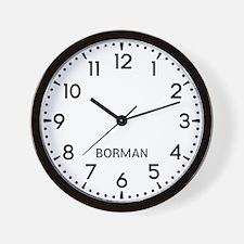 Borman Newsroom Wall Clock