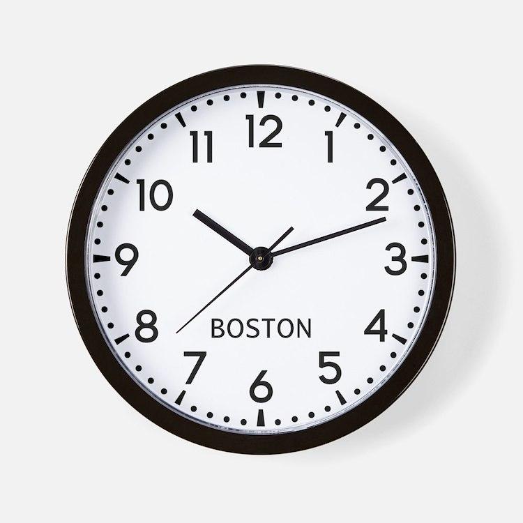 Boston Newsroom Wall Clock