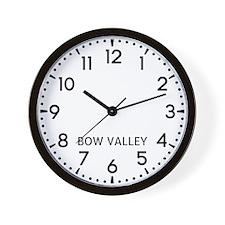 Bow Valley Newsroom Wall Clock