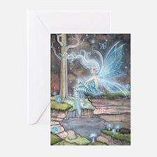 Blue Ember Fairy Fantasy Art Greeting Cards