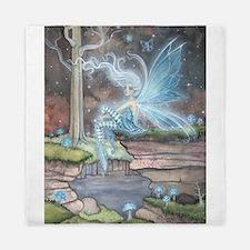 Blue Ember Fairy Fantasy Art Queen Duvet