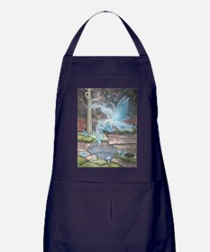 Blue Ember Fairy Fantasy Art Apron (dark)