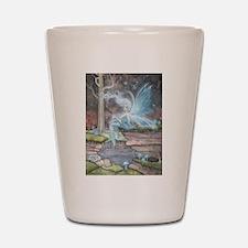 Blue Ember Fairy Fantasy Art Shot Glass