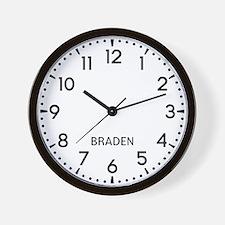 Braden Newsroom Wall Clock