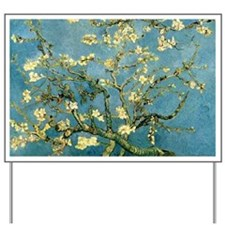VanGogh Almond Blossoms Yard Sign