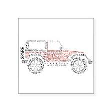 """Cute Jeeps Square Sticker 3"""" x 3"""""""