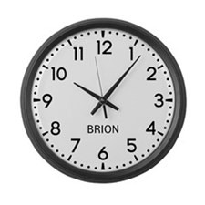 Brion Newsroom Large Wall Clock