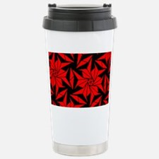 Red and Black Geometric Travel Mug