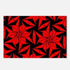Red and Black Geometric F Postcards (Package of 8)