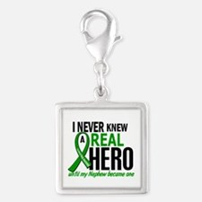Cerebral Palsy Real Hero 2 Silver Square Charm