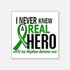 "Cerebral Palsy Real Hero 2 Square Sticker 3"" x 3"""