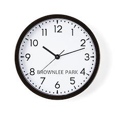 Brownlee Park Newsroom Wall Clock