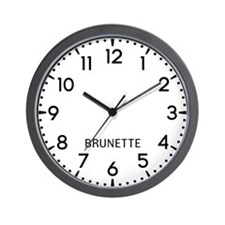 Brunette Newsroom Wall Clock