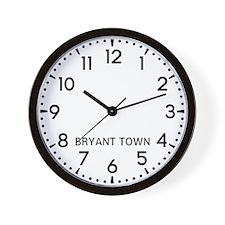 Bryant Town Newsroom Wall Clock