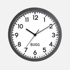 Bugg Newsroom Wall Clock