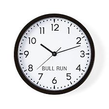 Bull Run Newsroom Wall Clock