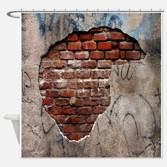 Wall Realism Shower Curtain