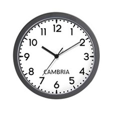 Cambria Newsroom Wall Clock