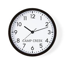 Camp Creek Newsroom Wall Clock