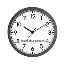 Candia Four Corners Newsroom Wall Clock