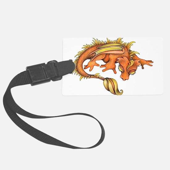 Orange Dragon Luggage Tag