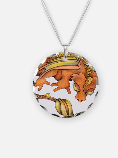 Orange Dragon Necklace